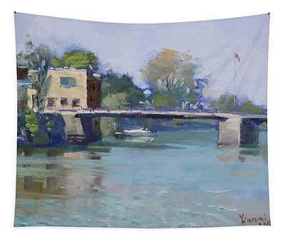 Bridge At Tonawanda Canal Tapestry