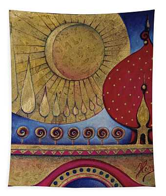 Bridge Between Sunrise And Moonrise Tapestry