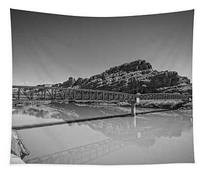 Tapestry featuring the photograph Bridge Over The Colorado River by Jim Thompson