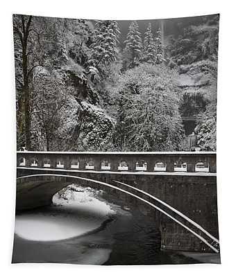 Bridges Of Multnomah Falls Tapestry