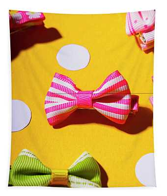 Bright Bow Tie Gallery Tapestry