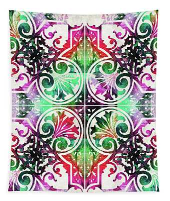 Bright Colorful Pattern Art - Color Fusion Design 10 By Sharon Cummings Tapestry