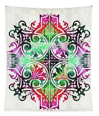 Bright Pattern Art - Color Fusion Design 9 By Sharon Cummings Tapestry