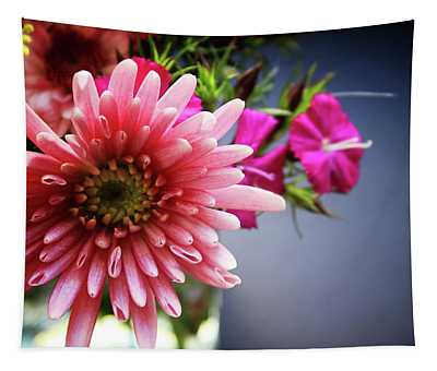 Bright Pink Floral 1- Art By Linda Woods Tapestry