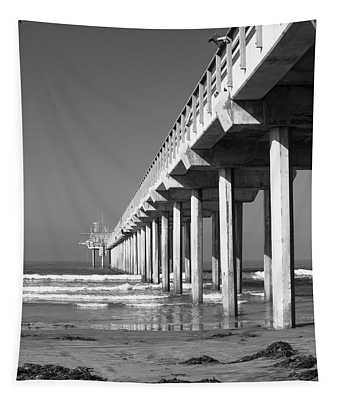 Bright White Scripps  Tapestry