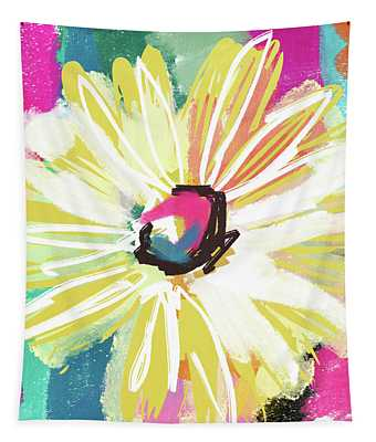Bright Yellow Flower- Art By Linda Woods Tapestry