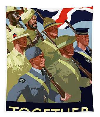 British Empire Soldiers Together Tapestry