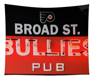 Broad Street Bullies Sign Tapestry