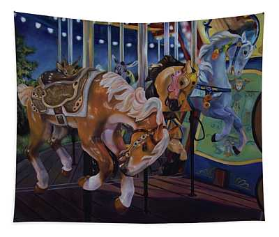 Bronc Busting 101 Tapestry