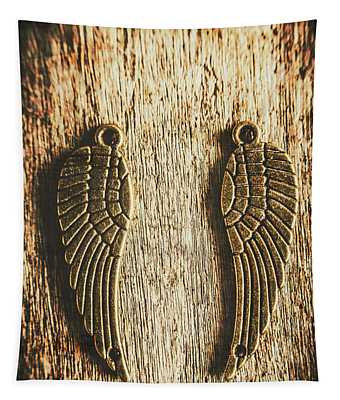 Bronze Angel Wings Tapestry
