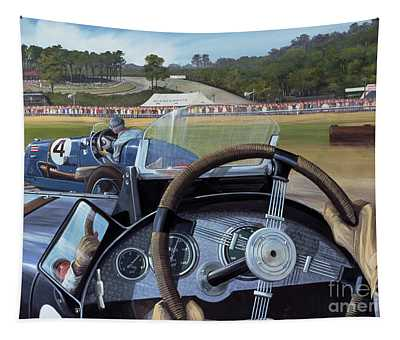 Brooklands From The Hot Seat  Tapestry