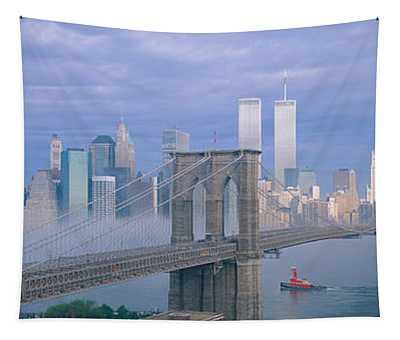 Brooklyn Bridge, East River, New York Tapestry