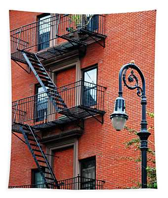 Brooklyn Heights Cobble Hill Typical Brick Facade - New York City Tapestry