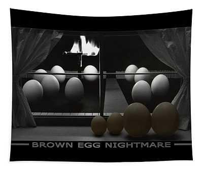 Brown Egg Nightmare Tapestry