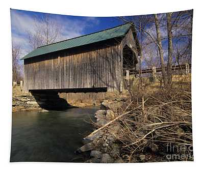 Brownsville Covered Bridge - Brownsville Vermont Tapestry