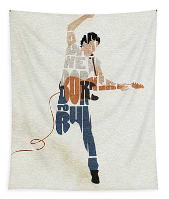 Bruce Springsteen Typography Art Tapestry