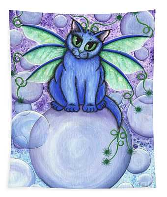 Bubble Fairy Cat Tapestry