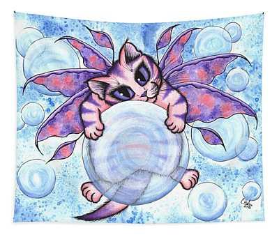 Bubble Fairy Kitten Tapestry
