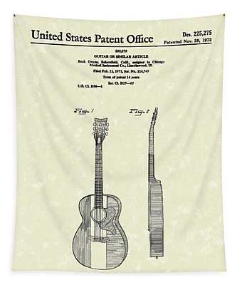 Buck Owens Guitar 1972 Patent Art  Tapestry