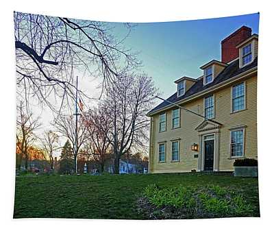 Buckman Tavern At Sunset Tapestry