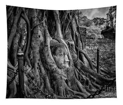 Buddha Head Ayutthaya Tapestry
