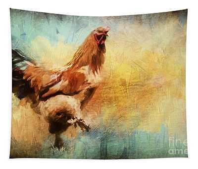 Buff Brahma Mrs. Darwin's Rooster  Tapestry