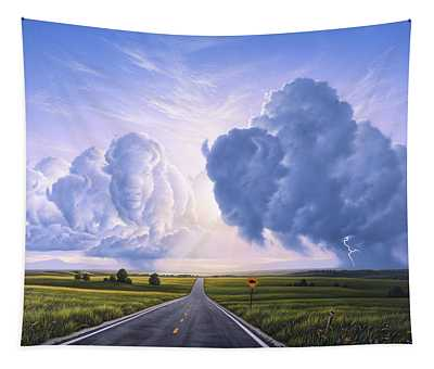 Prairie Grass Paintings Wall Tapestries