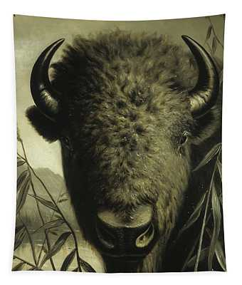 Buffalo Head Tapestry