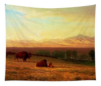 Buffalo On The Plains Tapestry
