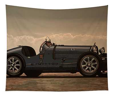 Bugatti Type 35 1924 Mixed Media Tapestry