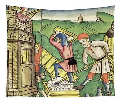 Building The Tower Of Babel Tapestry