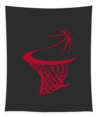 Bulls Basketball Hoop Tapestry