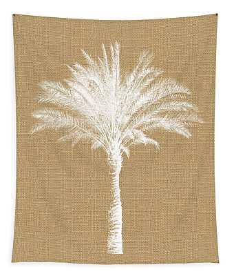 Burlap Palm Tree- Art By Linda Woods Tapestry