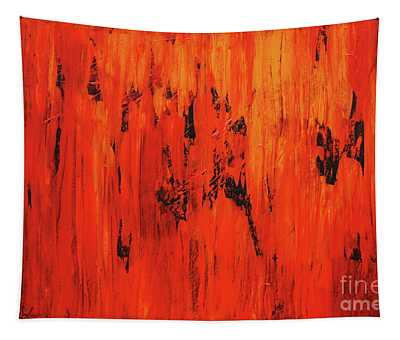 Burning Wall Of Flames Tapestry