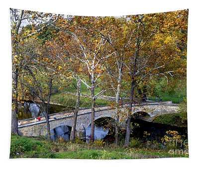 Burnside Bridge From Above Tapestry