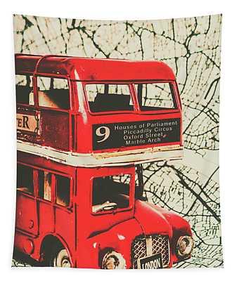 Bus Line Art Tapestry