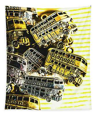 Bus Lines Tapestry