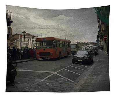 Bus Stop Tapestry