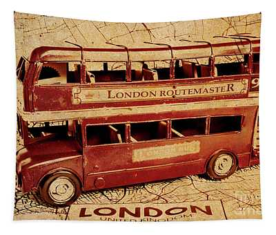 Buses Of Vintage England Tapestry