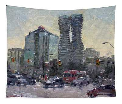 Busy Morning In Downtown Mississauga Tapestry
