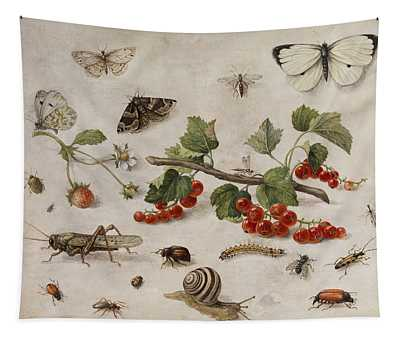 Butterflies, Insects And Currants Tapestry