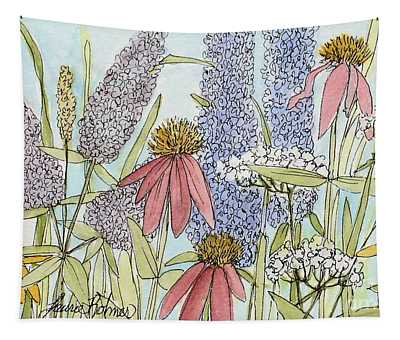 Butterfly Bush In Garden Tapestry