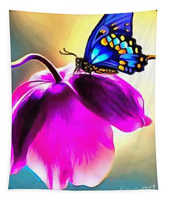 Butterfly Floral Tapestry