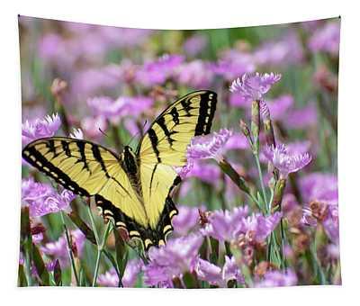 Butterfly Flowers Tapestry