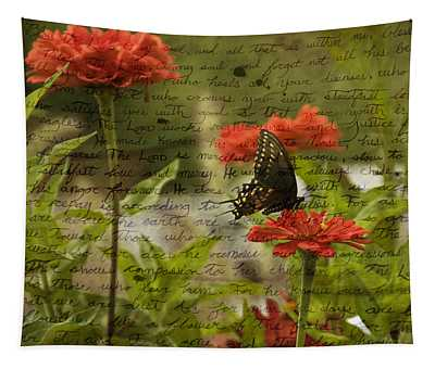 Butterfly Notes Tapestry