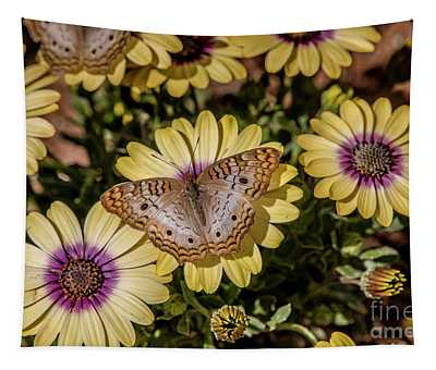Butterfly On Blossoms Tapestry
