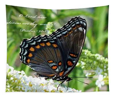 Butterfly Psalm 92 Scripture Tapestry