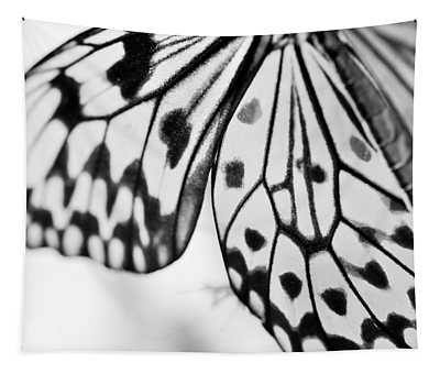 Butterfly Wings 3 - Black And White Tapestry