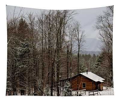 Tapestry featuring the photograph Cabin In The Woods by Patti Whitten