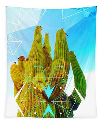 Cacti Embrace Tapestry